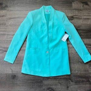 TOBI Mint Green One Button Long Body Blazer XS